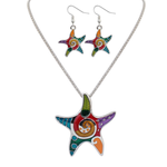 Starfish Hippie Pendant Set