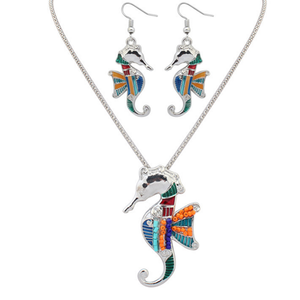 Seahorse With Wings Hippie Pendant Set