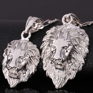 Lion Head Pendant Chain