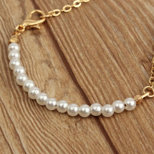 Freshwater Chinese Pearl Chain Bracelet