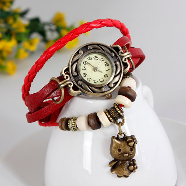 Cat Vintage Wrap Watch