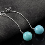 Turquoise Ball Drop Earrings