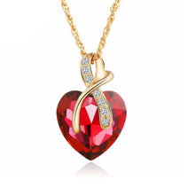 Gem Heart Ribbon Pendant - Florence Scovel - 2