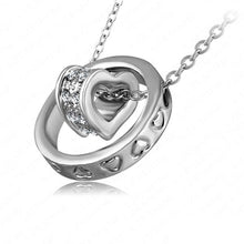 Double Heart Ring Necklace - Florence Scovel - 3