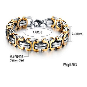 Luxury Personalized Man Bracelet New Cool Gold/Silver Stainless Steel - Florence Scovel - 3