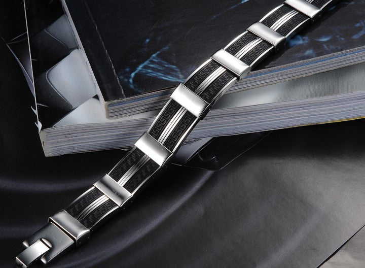 Dark Maze Stainless Steel Men's Bracelet - Florence Scovel - 3
