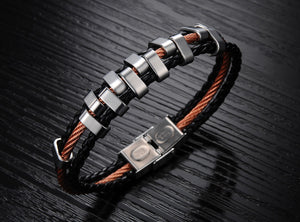 Rough Tracks Stainless Steel Men's Bracelet - Florence Scovel - 3