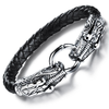 Game Of Thrones Inspired Double Dragon Stainless Steel Men's Bracelet - Florence Scovel - 2
