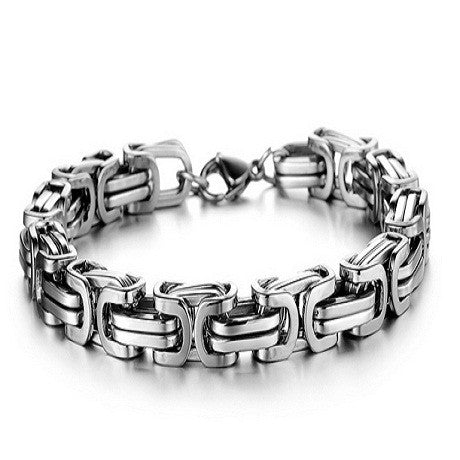 Luxury Personalized Man Bracelet New Cool Gold/Silver Stainless Steel - Florence Scovel - 1