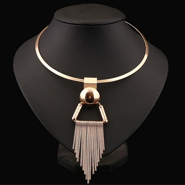 Collar Alloy Tassel Necklace