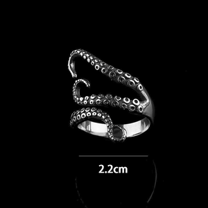 Titanium Steel Octopus Adjustable Ring