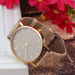 Checkers Faux Leather Watch