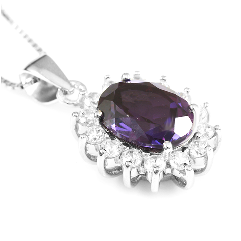 3 Carat Handcrafted Alexandrite Pendant with Silver Plated Chain - Florence Scovel - 7