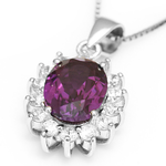 3 Carat Handcrafted Alexandrite Pendant with Silver Plated Chain - Florence Scovel - 10