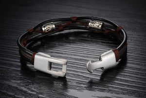 Handmade Genuine Leather Men's Bracelet - Florence Scovel - 4