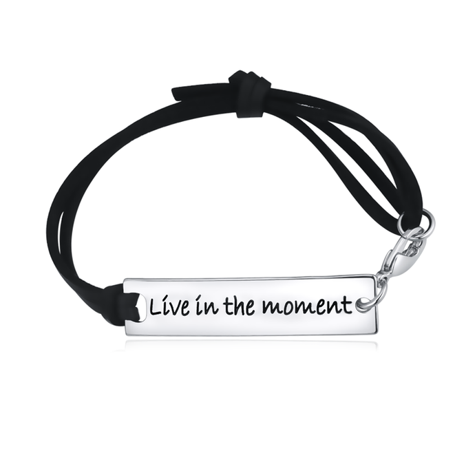 Live In The Moment Leather Strap Bracelet - Florence Scovel - 1
