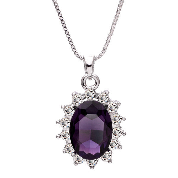 3 Carat Handcrafted Alexandrite Pendant with Silver Plated Chain - Florence Scovel - 1