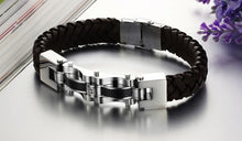 Armageddon Wing Men's Stainless Steel Bracelet (Brown) - Florence Scovel - 2