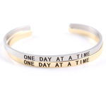 One Day At A Time Engraved Bangle