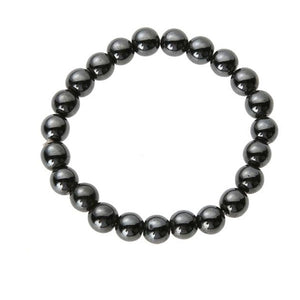 Magnetic Hematite Round Beads Stretch Bracelet