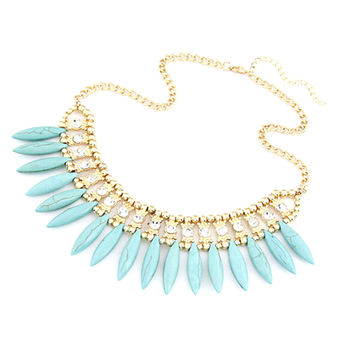 Bohemian Tassels Fringe Drop Statement Necklace - Florence Scovel - 1
