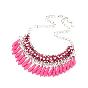 Fringe Drop Statement Necklace