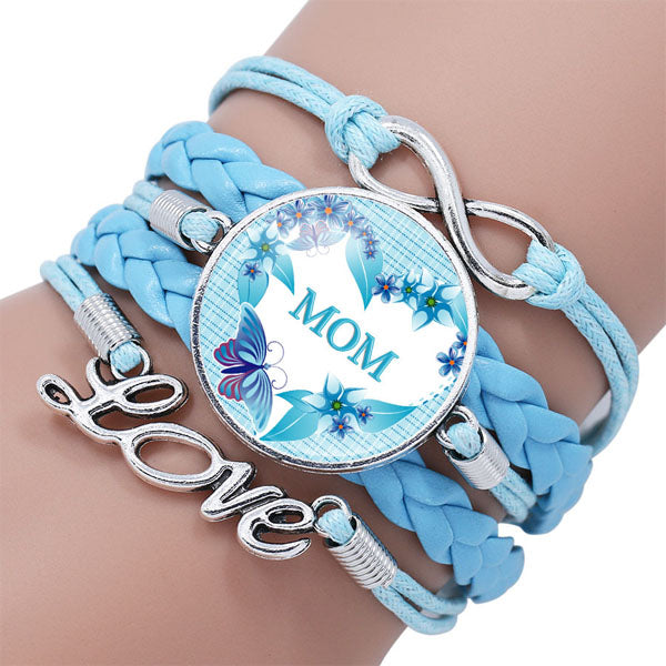 Mother Infinity Love Leather Bracelet