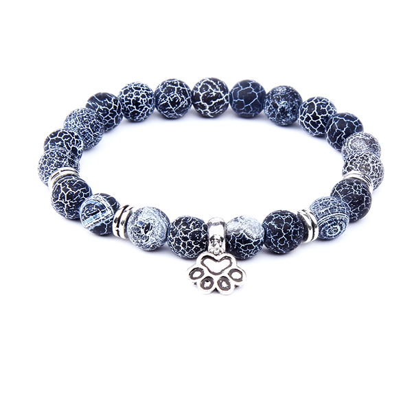 Dog claws Charm Bracelet With Volcanic Beads