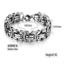 Luxury Personalized Man Bracelet New Cool Gold/Silver Stainless Steel - Florence Scovel - 4