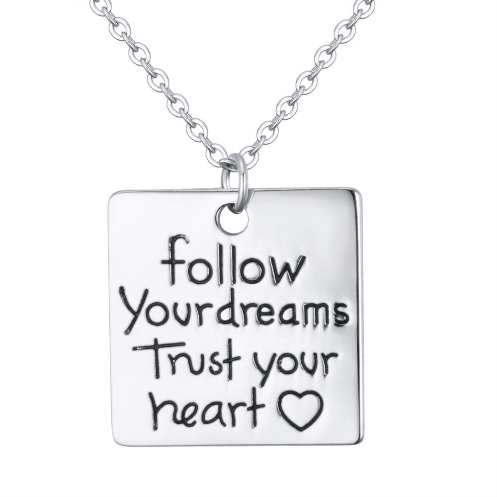 Trust Your Heart Charm Pendant - Florence Scovel