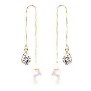 Water Drop Austrian Crystal Long Earrings