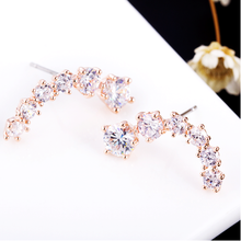 Rose Gold Star Crystal Earring
