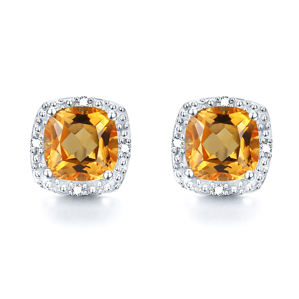Genuine Natural Citrine Earrings