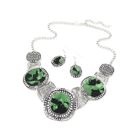 Rhinestone Statement Necklace Set - Florence Scovel - 1