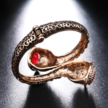 Red Resin Gold Antique Bangle