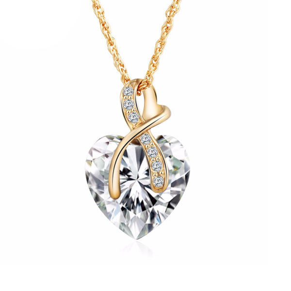 Gem Heart Ribbon Pendant - Florence Scovel - 1