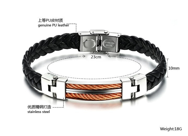 Strong Rope Stainless Steel Men's Bracelet - Florence Scovel - 5