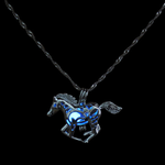 Glow In The Dark Running Horse Necklace