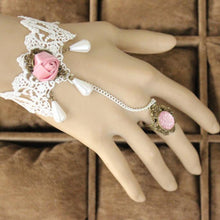 Pink Rose Ring-to-Wrist Bracelet - Florence Scovel - 3
