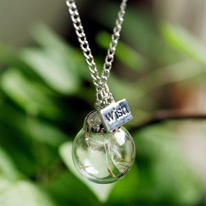 Natural Dandelion Seeds Wish Pendant - Florence Scovel - 3