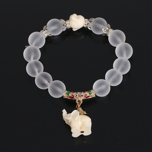 Natural Frosted Elephant Bracelet - Florence Scovel - 3