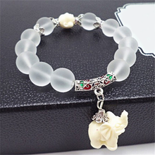 Natural Frosted Elephant Bracelet - Florence Scovel - 6