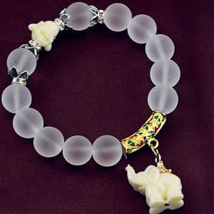 Natural Frosted Elephant Bracelet - Florence Scovel - 7
