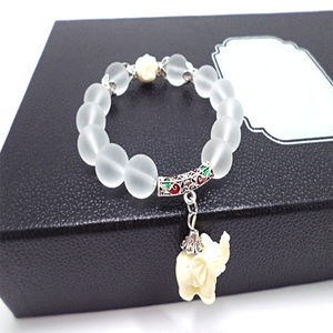 Natural Frosted Elephant Bracelet - Florence Scovel - 8