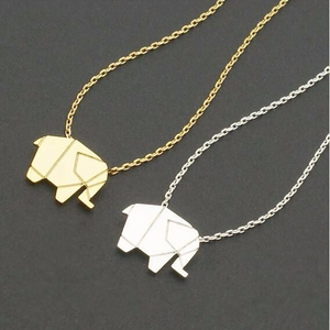 Geometric Origami Elephant Necklace - Florence Scovel - 2