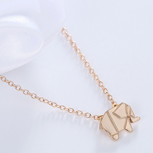 Geometric Origami Elephant Necklace - Florence Scovel - 5