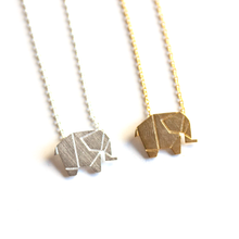 Geometric Origami Elephant Necklace - Florence Scovel - 1