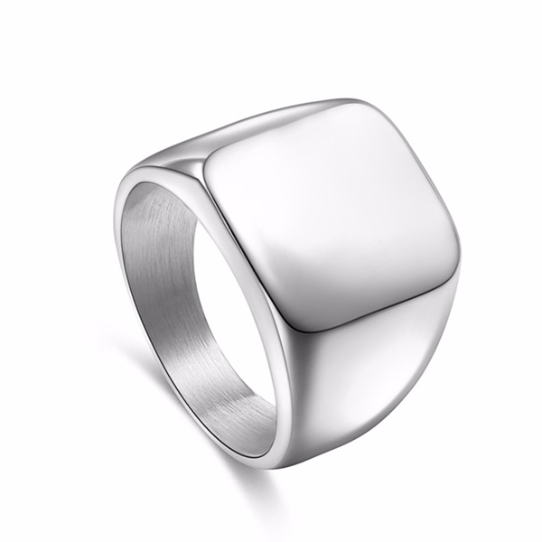 Square Titanium Men's Ring