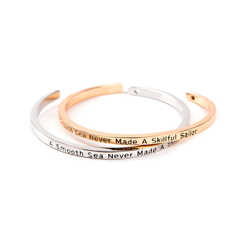 A Smooth Sea Never Made A Skillful Sailor Cuff Bangle - Florence Scovel - 1
