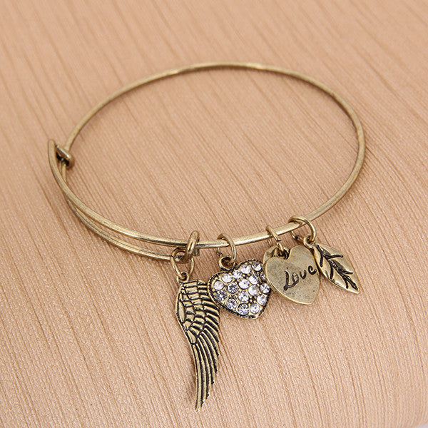 Angel Love Charm Bangle - Florence Scovel - 3
